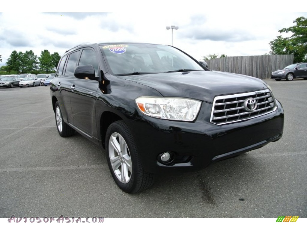 2008 toyota highlander limited in black 017263 autos of asia japanese and korean cars for. Black Bedroom Furniture Sets. Home Design Ideas