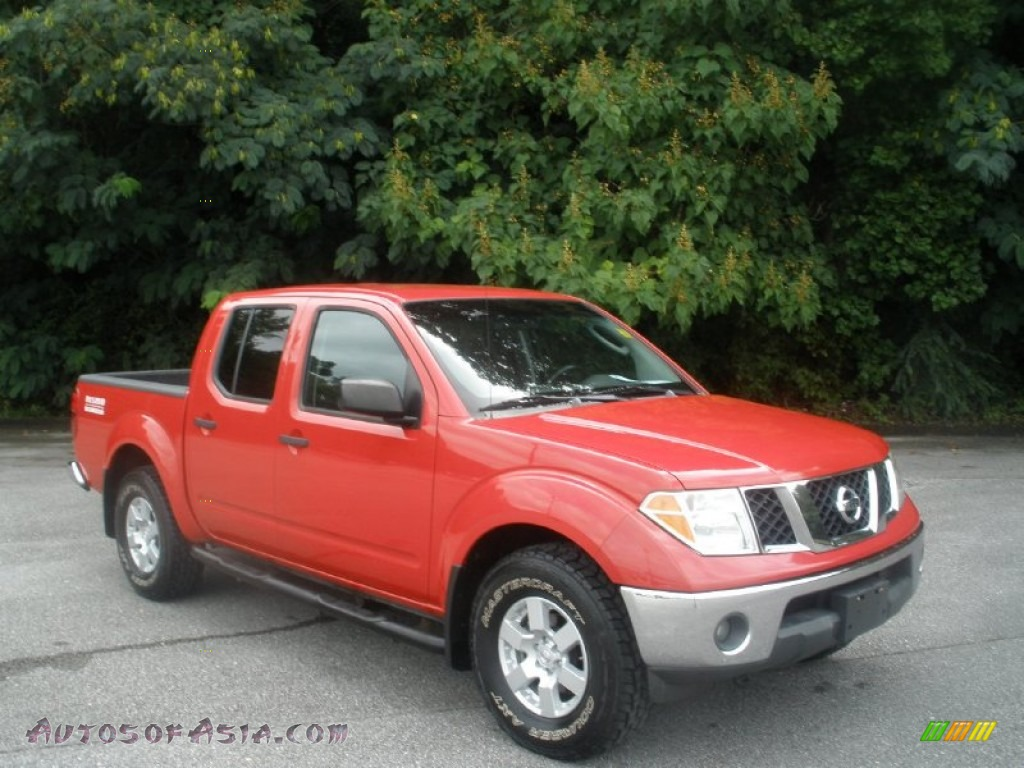 2005 nissan frontier se crew cab 4x4 in aztec red 415064. Black Bedroom Furniture Sets. Home Design Ideas