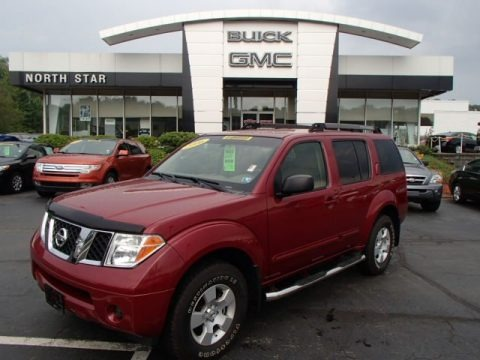 Red Brawn Pearl 2006 Nissan Pathfinder S 4x4