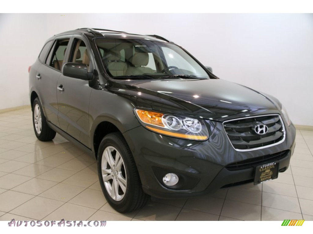 2011 Hyundai Santa Fe Limited Awd In Black Forest Green