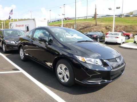 Metro Acura on Crystal Black Pearl Honda Civic Lx Coupe For Sale   Autos Of Asia