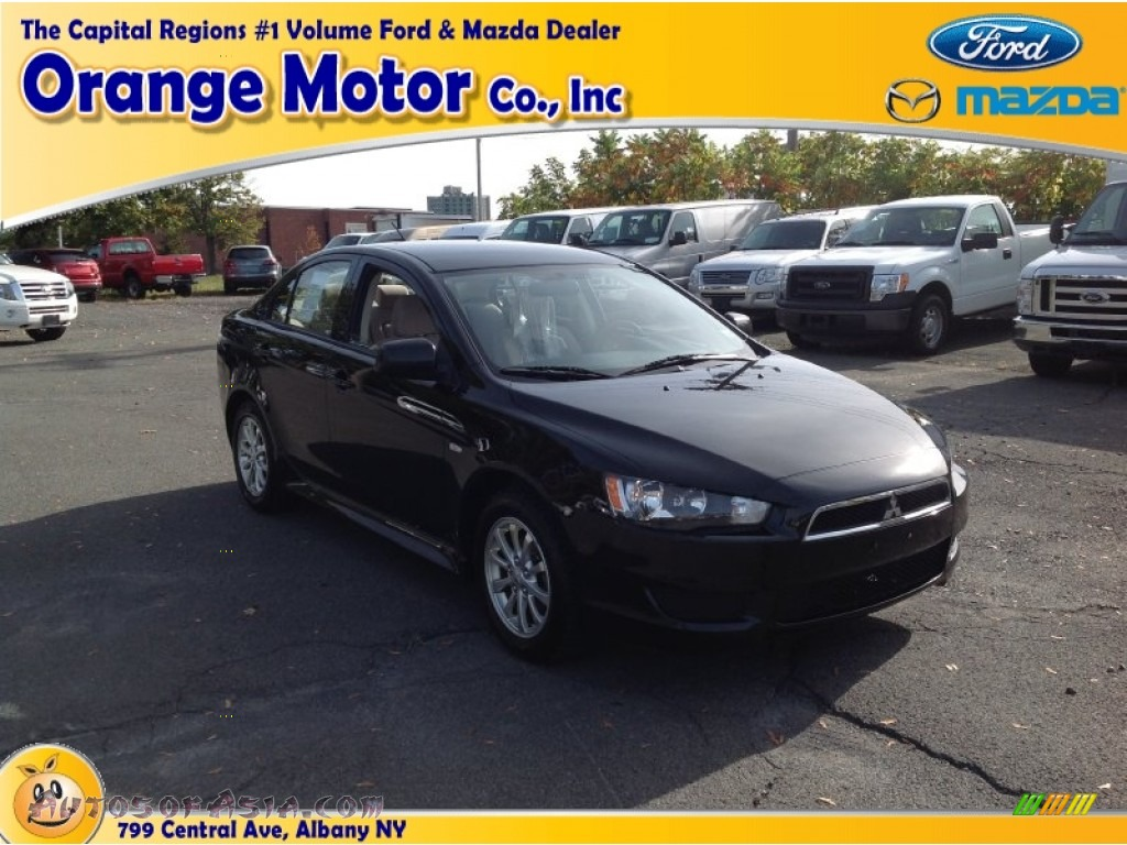 2010 mitsubishi lancer es in tarmac black pearl 032705 for Orange motors albany new york