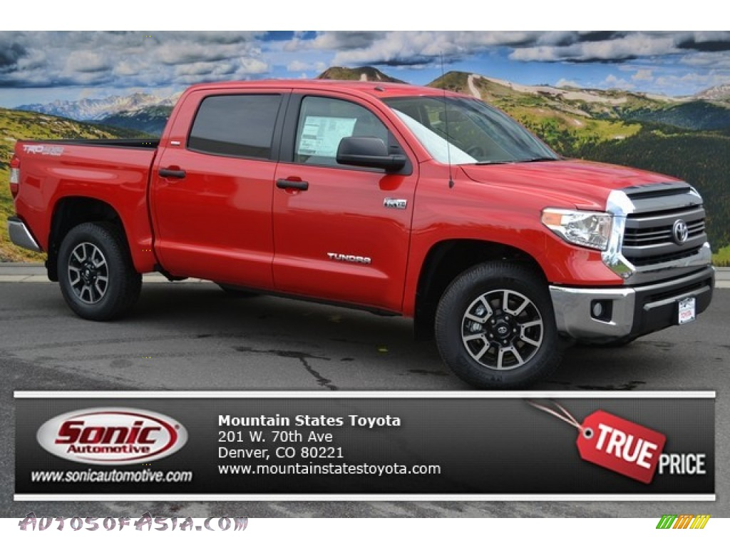 2014 toyota tundra sr5 trd crewmax 4x4 in radiant red 323954 autos of asia japanese and