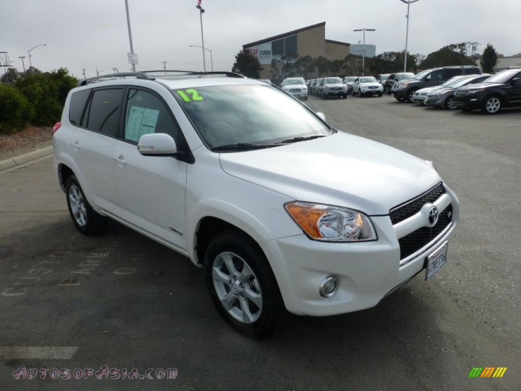 2012 toyota rav4 v6 limited 4wd in blizzard white pearl 086977 autos of asia japanese and. Black Bedroom Furniture Sets. Home Design Ideas