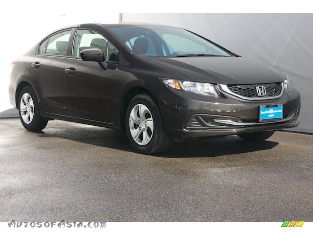 2014 Honda Civic Lx Sedan In Kona Coffee Metallic 503678 Autos Of Asia Japanese And Korean