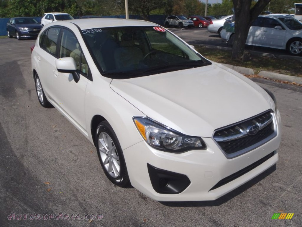 2014 Subaru Impreza 2 0i Premium 5 Door In Satin White