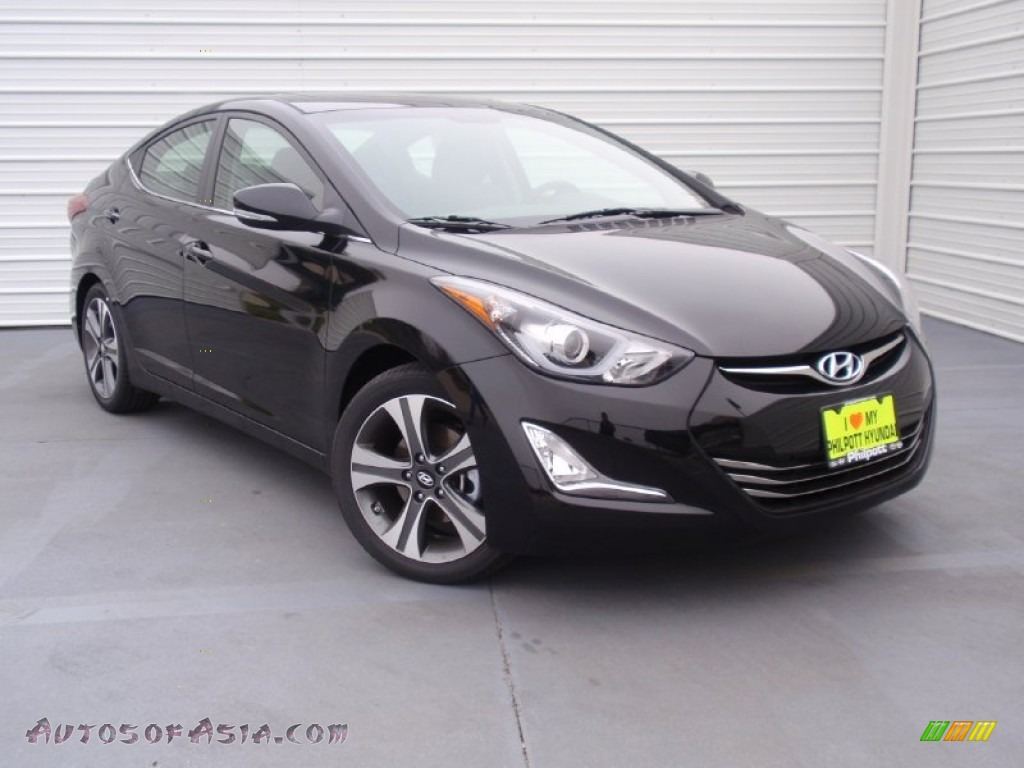 2014 Elantra Sport Sedan - Black Noir Pearl   Black photo  1Hyundai Elantra 2014 Black