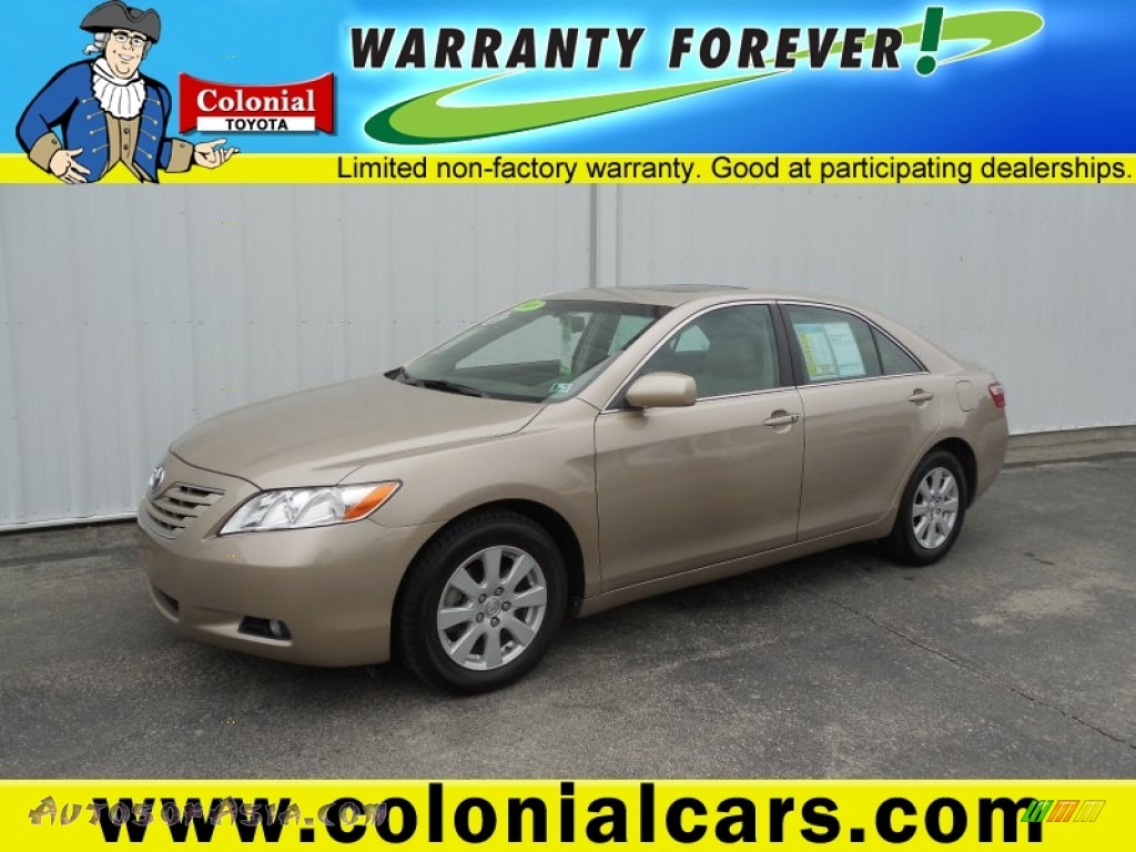 2008 toyota camry xle v6 in desert sand mica 566638 autos of asia japanese and korean cars. Black Bedroom Furniture Sets. Home Design Ideas