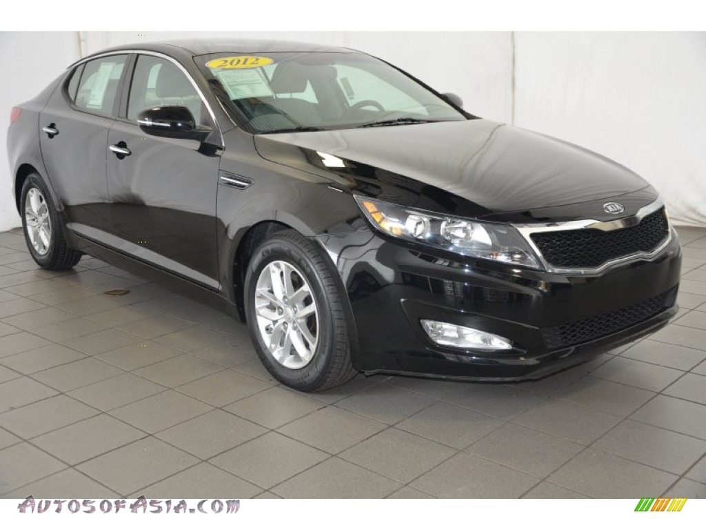 2012 kia optima lx in ebony black 053067 autos of asia japanese and korean cars for sale. Black Bedroom Furniture Sets. Home Design Ideas