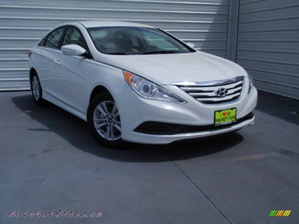 2014 Hyundai Sonata Gls In Pearl White 929651 Autos Of Asia Japanese And Korean Cars For