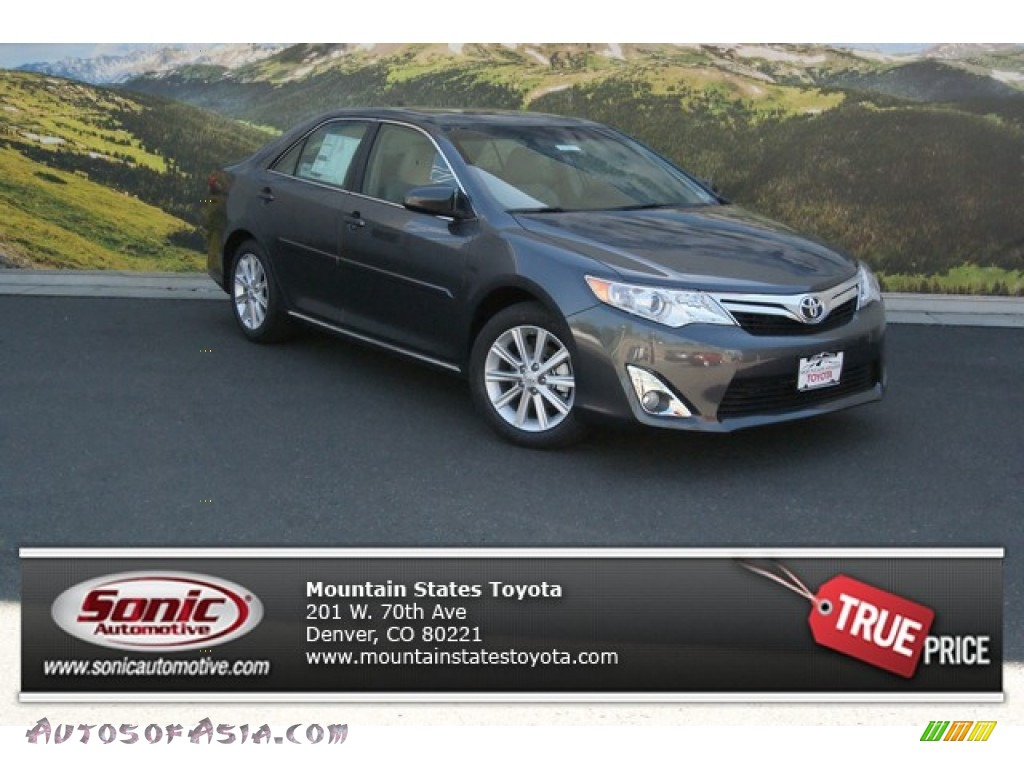 2014 toyota camry xle v6 in magnetic gray metallic 550065 autos of asia japanese and. Black Bedroom Furniture Sets. Home Design Ideas