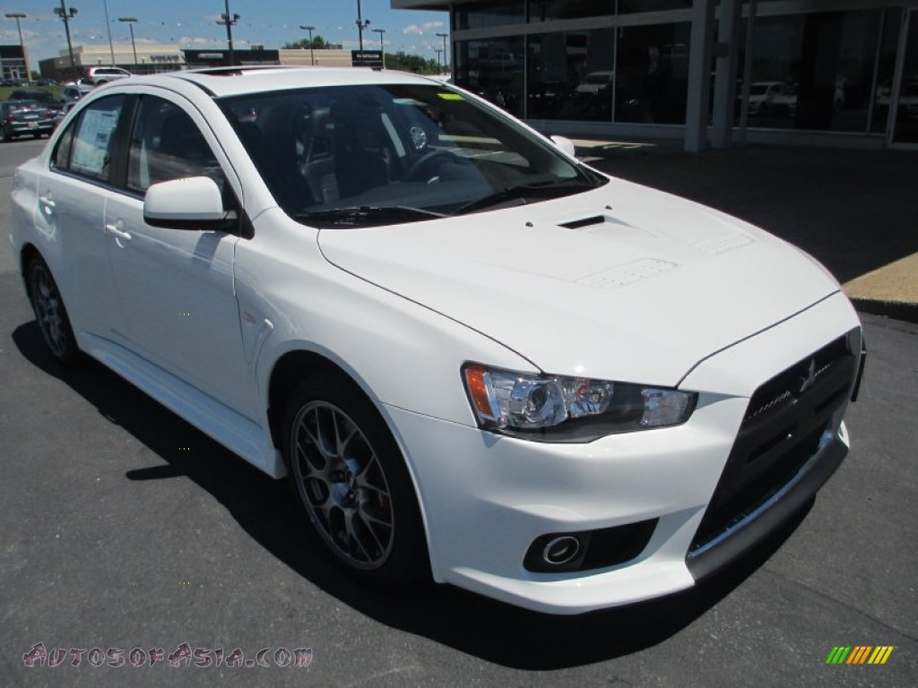 2014 mitsubishi lancer evolution gsr in wicked white 020846 autos of asia japanese and. Black Bedroom Furniture Sets. Home Design Ideas