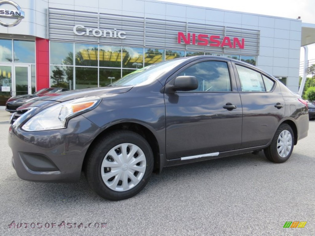 2015 nissan versa 1 6 s plus sedan in amethyst gray 809339 autos of asia japanese and. Black Bedroom Furniture Sets. Home Design Ideas