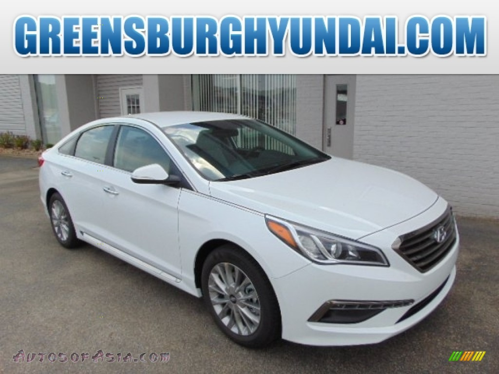 2015 hyundai sonata limited in quartz white pearl 013455 autos of asia japanese and korean. Black Bedroom Furniture Sets. Home Design Ideas