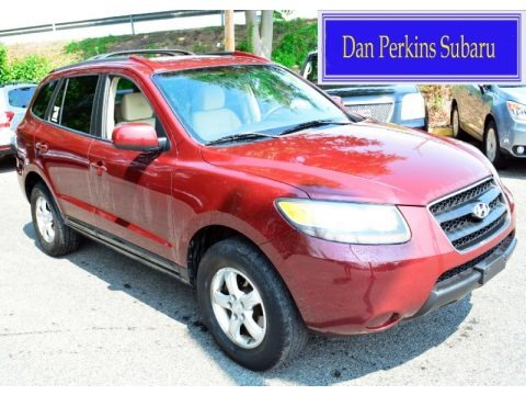 Dark Cherry Red 2007 Hyundai Santa Fe GLS 4WD