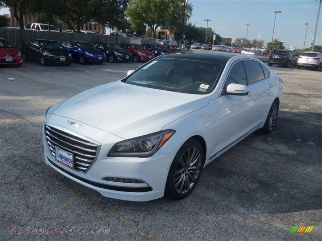 2015 Hyundai Genesis 5 0 Sedan In Casablanca White