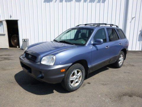 Crystal Blue 2003 Hyundai Santa Fe GLS 4WD
