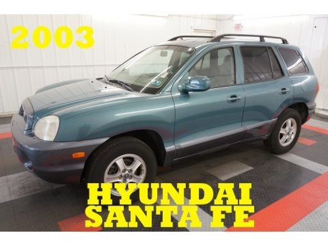 Pine Green 2003 Hyundai Santa Fe GLS 4WD