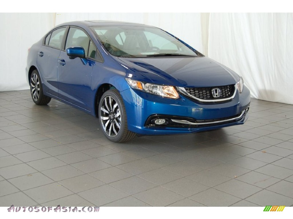 2015 honda civic ex l sedan in dyno blue pearl 004711 autos of asia japanese and korean. Black Bedroom Furniture Sets. Home Design Ideas