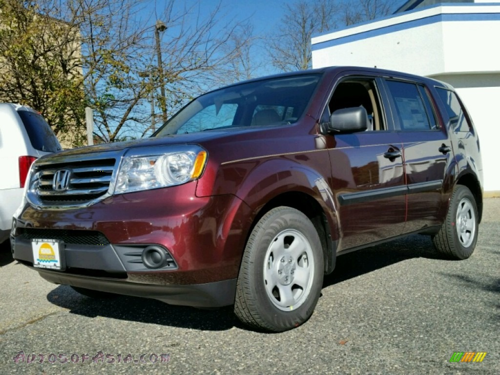 2015 honda pilot lx 4wd in dark cherry pearl 032018 autos of asia japanese and korean cars. Black Bedroom Furniture Sets. Home Design Ideas